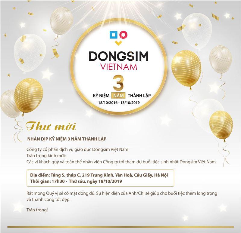 Dongsim Việt Nam tổ chức lễ kỷ niệm 3 năm thành lập Công ty