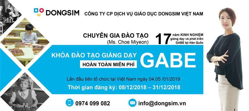KHÓA ĐÀO TẠO GIẢNG DẠY GABE - Dongsim Việt Nam giúp phát huy tối đa sự sáng tạo và năng lực trí tuệ của trẻ.