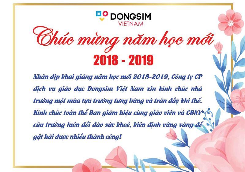 CHÀO MỪNG NĂM HỌC MỚI 2018 - 2019