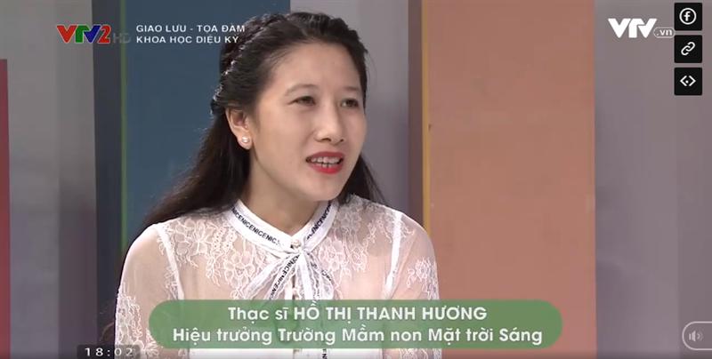 T.S Hồ Thị Thanh Hương nói gì về ứng dụng chương trình khoa học vào giảng dạy tại trường mầm non