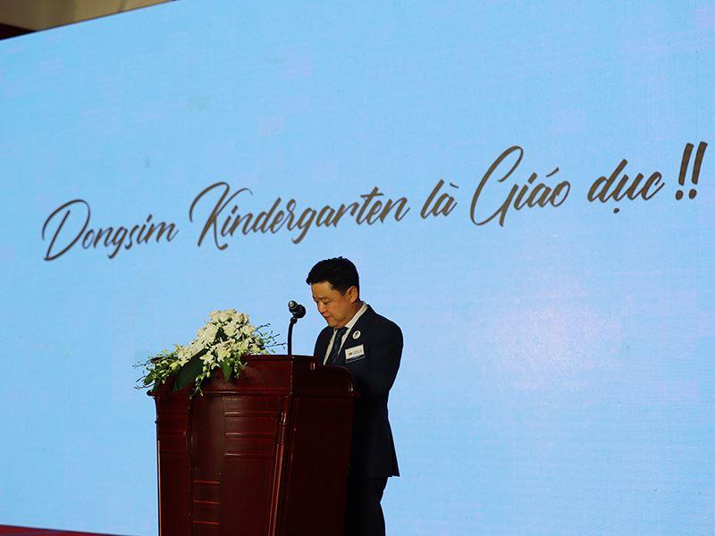 Báo chí chia sẻ về lễ giới thiệu mô hình franchise Dongsim Kindergarten