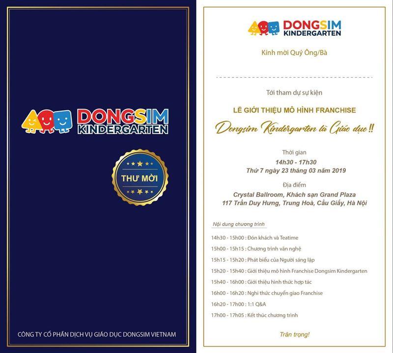 """Lễ giới thiệu mô hình Franchise """"Dongsim Kindergarten là giáo dục"""""""