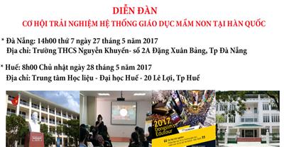 {Sự kiện tháng 5} Diễn đàn chia sẻ về 2017 Dongsim's Edutour & Khoa học diệu kỳ tại miền trung